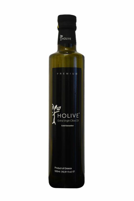 Extra Virgin Olive Oil Glass Bottle Dorica Holive 500ml