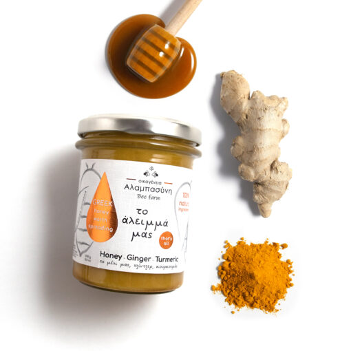 Alabasinis honey with ginger & turmeric 250g