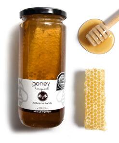 Alabasisis honey with honeycomb 700g